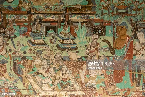 Murals of Mogao cave 217 AD 705707Tang Dynasty The Mogao Caves also known as the Thousand Buddha Grottoes are the best known of the Chinese Buddhist...