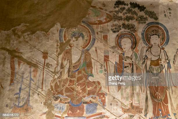 Murals of Mogao cave 276 Sui Dynasty The Mogao Caves also known as the Thousand Buddha Grottoes are the best known of the Chinese Buddhist grottoes...
