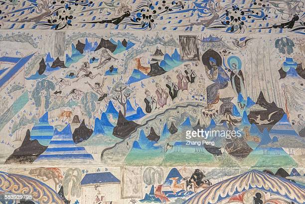 Murals of Mogao cave 285 AD 538539 The Mogao Caves also known as the Thousand Buddha Grottoes are the best known of the Chinese Buddhist grottoes and...