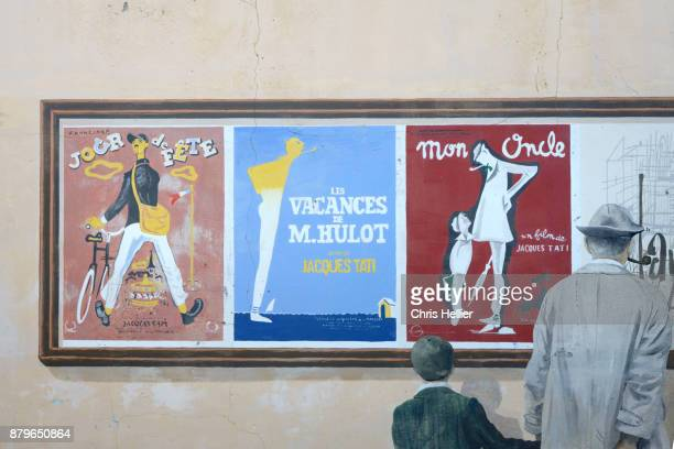 Murals or Wall Paintings Based on Vintage Posters of Jacques Tati Films Cannes