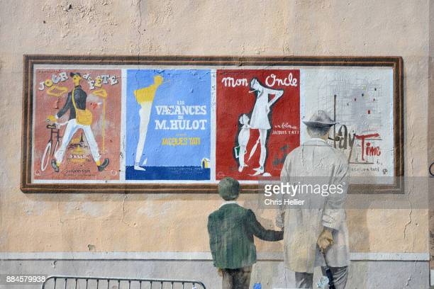 Murals or Wall Paintings Based on Vintage Posters of Jacques Tati Fims