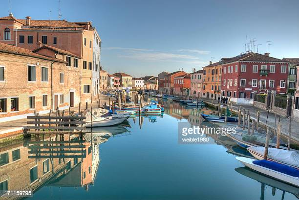 murano blue water and boats - murano stock pictures, royalty-free photos & images