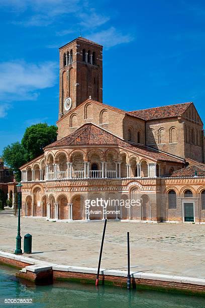 murano island and basilica di santa maria e san donato - murano stock pictures, royalty-free photos & images