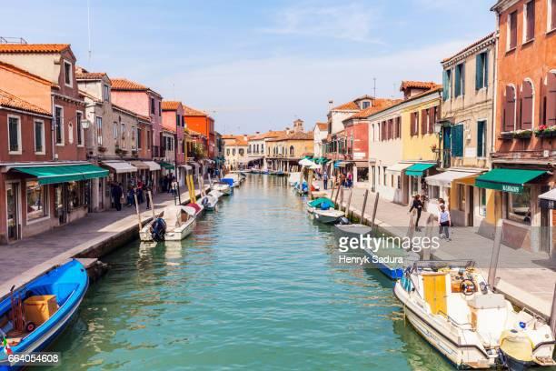 Murano Island canal in Venice