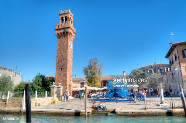 murano - natale di vetro (christmas of glass) - campo santo stefano stock pictures, royalty-free photos & images