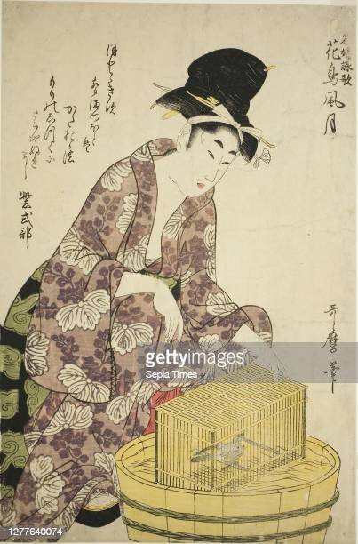 Bird, from the series Famous Women and Their Poems on Flowers, Birds, Wind, and Moon , c. 1805, Kitagawa Utamaro, Japanese, 1753 -1806, Japan, Color...