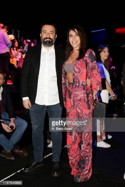 Murat Asik and Gokcen Paprika attend the Exquise show during MercedesBenz Fashion Week Istanbul March 2019 at Zorlu Center on March 22 2019 in...
