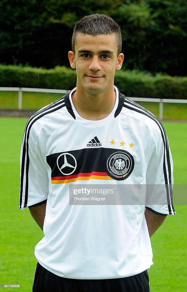 Murat Bildirici poses during the U17 Germany team presentation at the Sportschule on September 14, 2009 in Hennef, Germany.