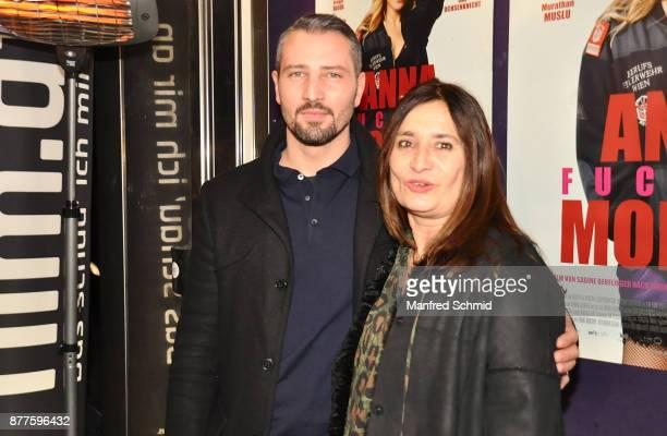 Murathan Muslu and Sabine Derflinger pose during the 'Anna Fucking Molnar' Premiere at Gartenbau Kino on November 22 2017 in Vienna Austria