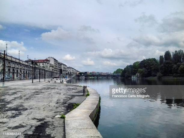 murazzi on the river po - turin stock pictures, royalty-free photos & images