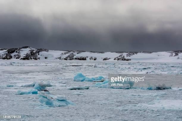 Murchinson Bay, Murchisonfjorden, Nordauslandet, Svalbard Islands, Norway..