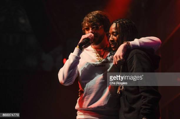 Murda Beats and Pressa attend Spotify's RapCaviar Live in Toronto at Rebel Nightclub on September 28 2017 in Toronto Canada