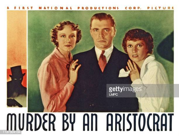 Murder By An Aristocrat US lobbycard from left Claire Dodd Lyle Talbot Marguerite Churchill 1936