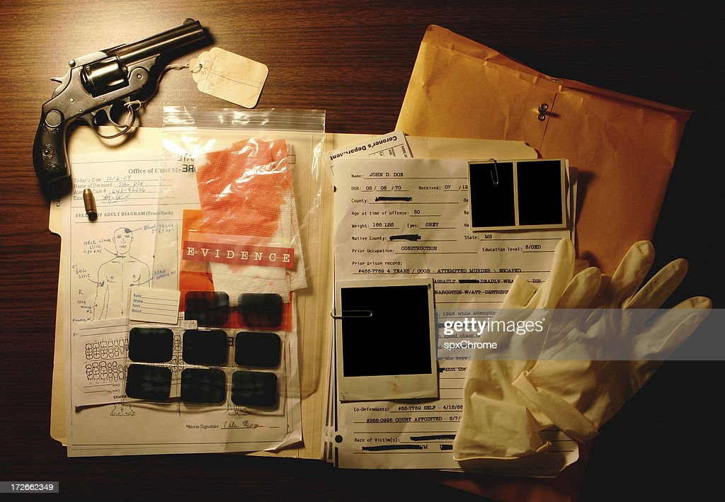 Murder Case Interface : Stock Photo