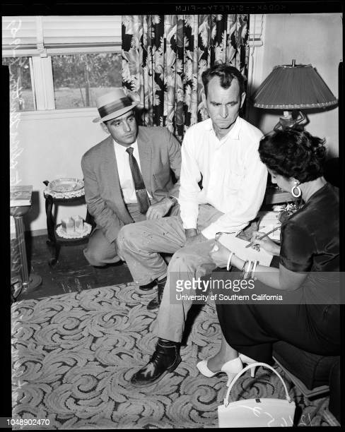 Murder confession 19 June 1956 Wilbur A White 40 years Officer James WahlkeDora Britton Wilbur A White and Wife Allie WhiteCopy of charcoal drawing...