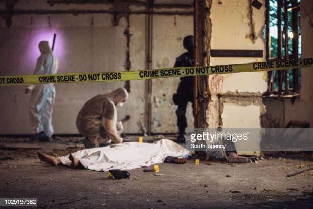 murder crime happened - murder victim stock pictures, royalty-free photos & images