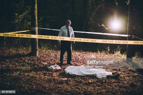 murder in the forest - more dead cops stock pictures, royalty-free photos & images