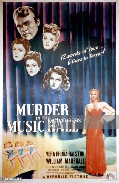 Murder In The Music Hall poster William Marshall Helen Walker Nancy Kelly Ann Rutherford Julie Bishop Vera Ralston 1946