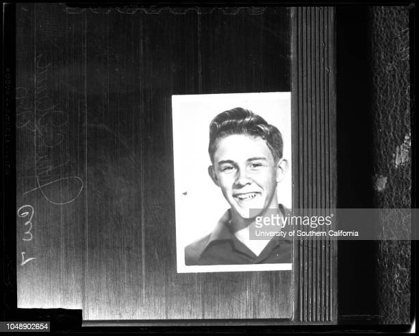 Murder in Torrance Drive In Theater, 15 August 1957. John E Edwards -- 17 years ;Mr and Mrs Marvin Edwards .;Caption slip reads: 'Photographer:...