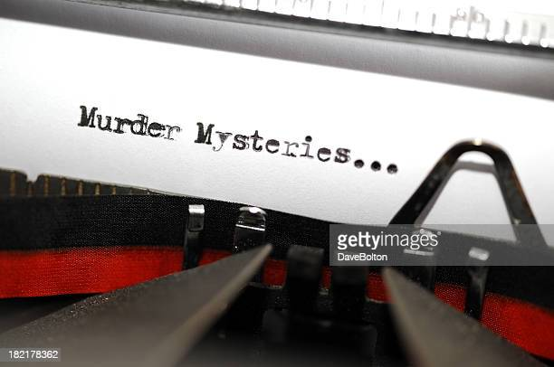 murder mystery text - murder mystery stock photos and pictures