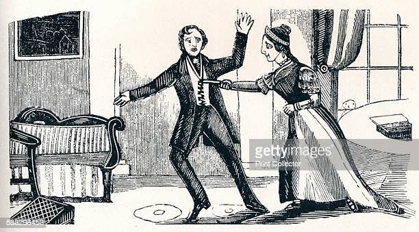 Murder of Captain Lawson c1840 Originally from 'London Labour and the London Poor' by Henry Mayhew From The Connoisseur Vol III [Otto Limited London...