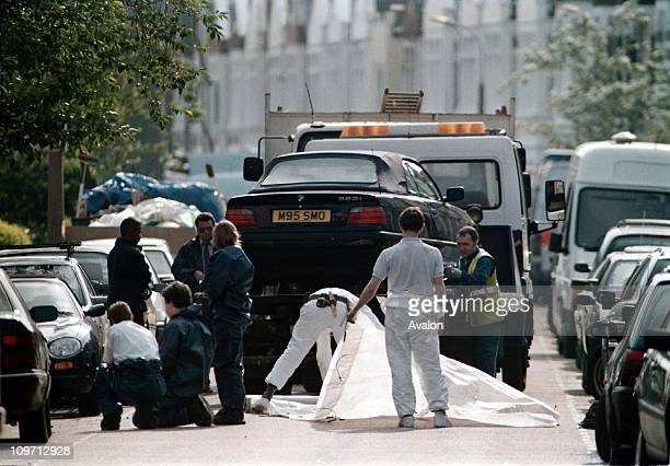 Murder Of Jill Dando The car of murdered TV Presenter Jill Dando being taken away to the Police Forensics Laboratory Jill was shot dead by a gunman...