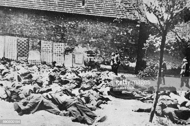 Murder of population of Lidice Bohemia 10 June 1942 After the destruction of the miners' settlement Lidice in the wake of the assassination of the...