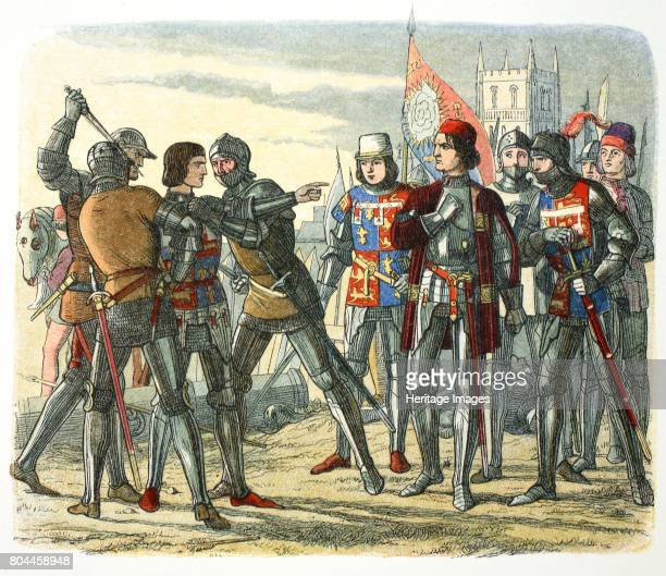 Murder of Prince Edward after his capture by King Edward IV 1471 Edward of Westminster Prince of Wales the son of the Lancastrian King Henry VI was...