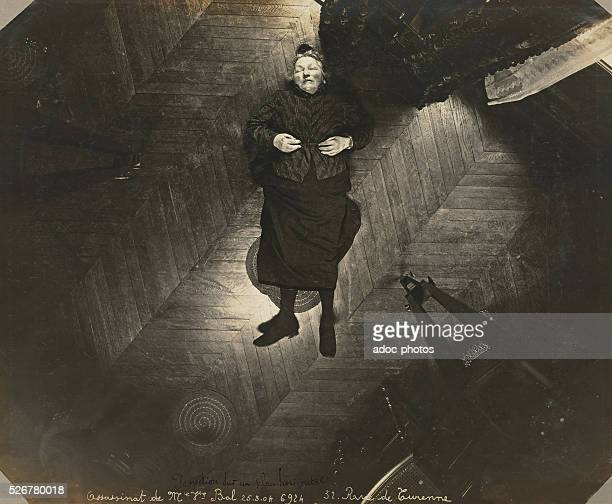 Murder of the widow Bal in her appartment of the 32 rue de Turenne in Paris On March 25 1904