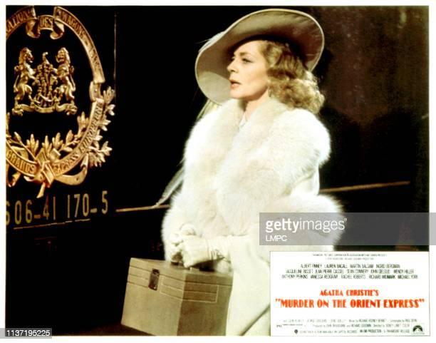 Murder On The Orient Express lobbycard Lauren Bacall 1974