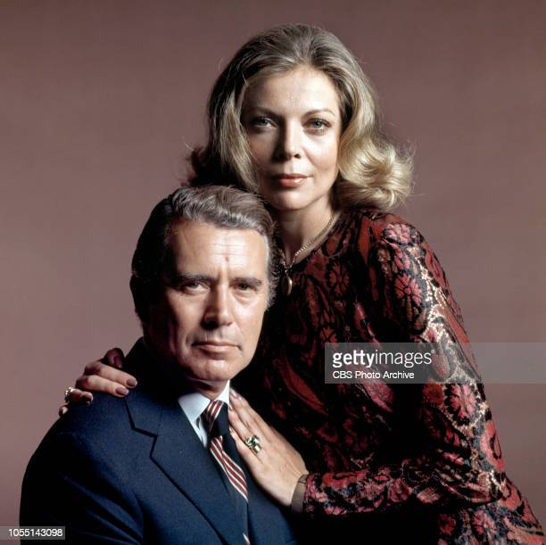 Murder Once Removed a made for TV movie Originally broadcast October 29 1971 Pictured is John Forsythe and Barbara Bain