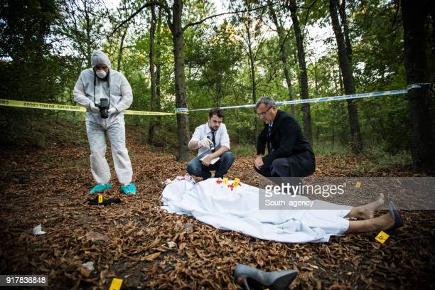Murder scene in the forest