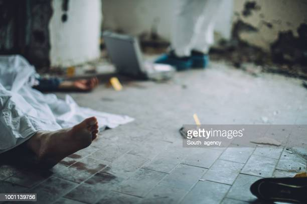 murder scene - crime scene stock pictures, royalty-free photos & images