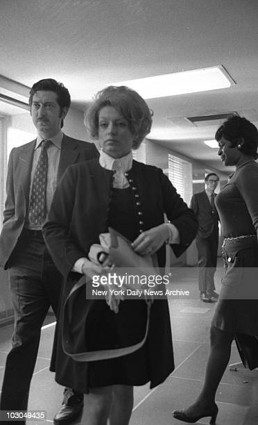 Murder suspect Alice Crimmins with her attorney William M Erlbaum at Queens Criminal Court New York March 1971 Crimmens is on trial for the second...