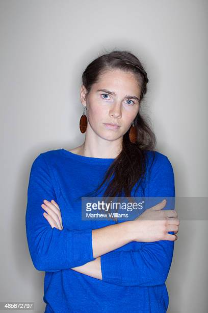 Murder suspect Amanda Knox who has always protested her innocence in the Meredith Kercher murder case is photographed for L'oggi magazine on...