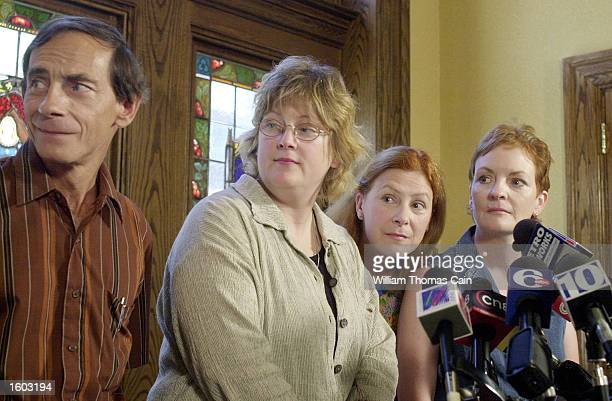 Murder victim Holly Maddux''s family from left John Maddux Mary Maddux Meg Wakeman and Buffy Hall speak to the media July 20 2001 in Philadelphia...