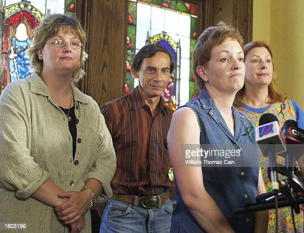 Murder victim Holly Maddux''s family from left Mary Maddux John Maddux Buffy Hall and Meg Wakeman speak to the media July 20 2001 in Philadelphia...
