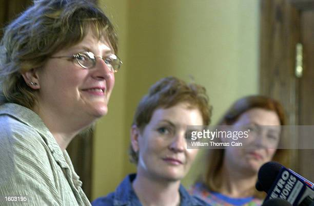Murder victim Holly Maddux''s family Mary Maddux Buffy Hall and Meg Wakeman speak to the media July 20 2001 in Philadelphia after convicted murderer...