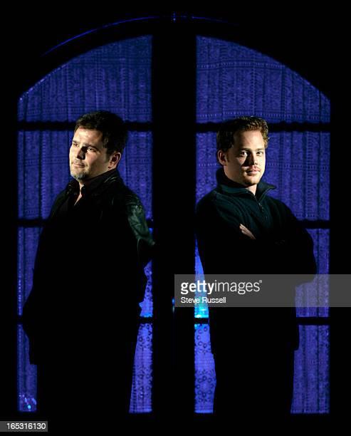 Jeremy Ratchford, left, and Joel Keller, co-stars in the series Blue Murder in Toronto, December 3, 2002.