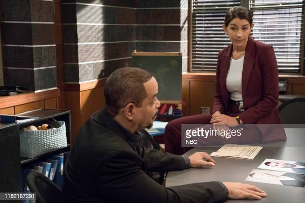 UNIT Murdered At A Bad Address Episode 21006 Pictured Ice T as Detective Odafin Fin Tutuola Jamie Gray Hyder as Katriona Kat Azar Tamin