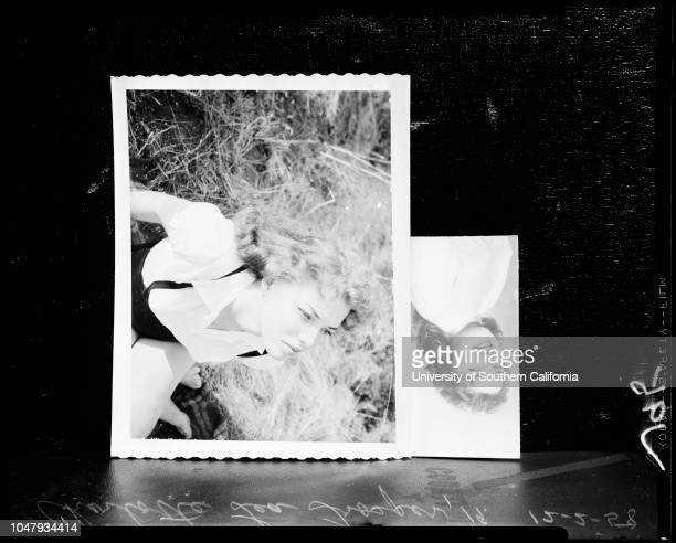 Murdered woman 02 December 1958 Charlotte Lea Trosper 19 years Gerald Feasby 31 years Caption slip reads 'Photographer Rustan Date Assignment Dead...
