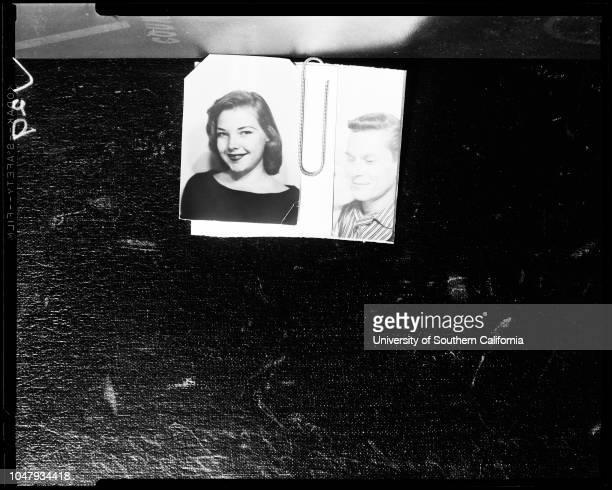 Murdered woman 02 December 1958 Charlotte Lea Trosper 19 years Gerald Feasby 31 years Caption slip reads 'Photographer Rustan Date Assignment Dead...