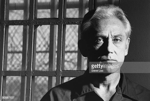 Murderer Dr Jeffrey MacDonald posing in prison cell at Terminal Island federal penitentiary where he is serving 3 consecutive life terms for...