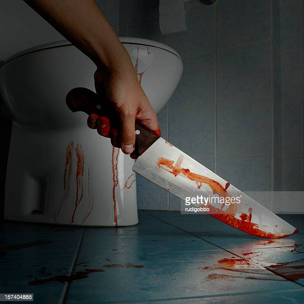 murderer in bathroom - serial killings stock pictures, royalty-free photos & images
