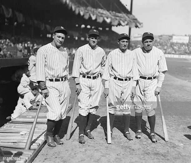 Murderers' Row 1931 editionThe four members of the New York Yankees who will strike terror to the heart of any pitcher they may face this season...