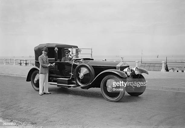 L A Murdock with his chauffeurdriven Rolls Royce Phantom I with Coupe de Ville coachwork at the French resort of Le Touquet 1st August 1927