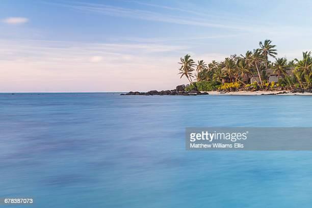 Muri Lagoon sunrise, Rarotonga, Cook Islands, South Pacific, Pacific