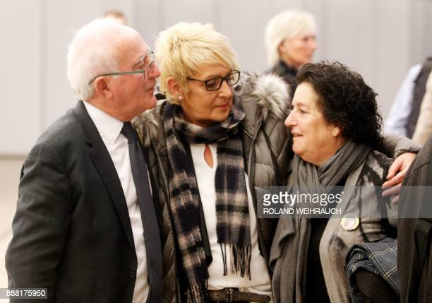 Muria and Paco Zapater, who have lost their daughter Clara in the Duisburg Love Parade stampede, and Gabi Mueller who has lost her son Christian wait...