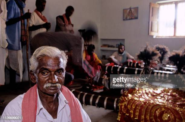 Muria Tribe Festival with the shamans in a trance in Chhattisgarh The Muria are one of the oldest original Indian tribes speaking a Dravidian...