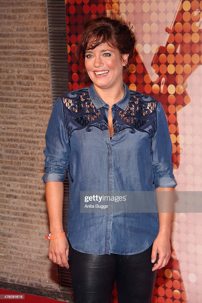 Muriel Baumeister attends the 'Banklady' premiere at Kino International on March 17, 2014 in Berlin, Germany.